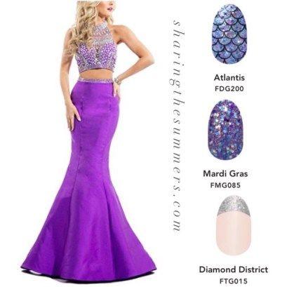 Violet prom dress, violet pageant dress, violet gown, color street ...