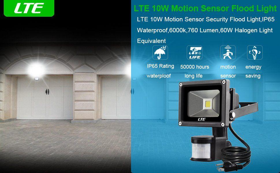 Motion sensor flood light lte 10w waterproof pir sensor security motion sensor flood light lte 10w waterproof pir sensor security led lights 6000k aloadofball Gallery