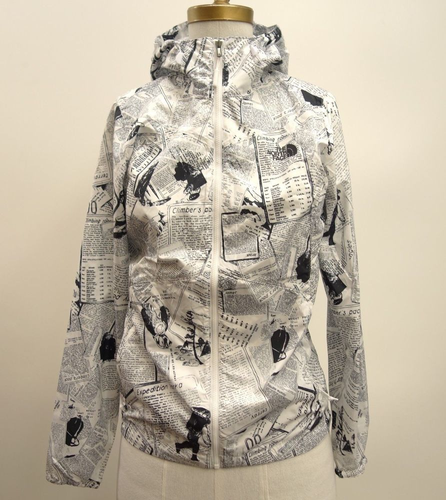 dacb2bc3fc35 The North Face Rare UO Womens Rain Jacket Windbreaker Coat Newspaper Print  XS  TheNorthFace  Windbreaker  AllOccasions