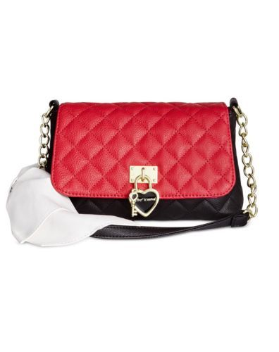 51.41$  Watch here - http://vieaz.justgood.pw/vig/item.php?t=4wcqbb30477 - Betsey Johnson White Shoulder Bow Black & Red Cross Body Satchel Bag Purse NWT 51.41$