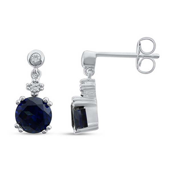Radiant Reflections Ring 1 2 Carat Diamond 10k White Gold Sapphire Earrings Sterling Silver Earrings White Gold