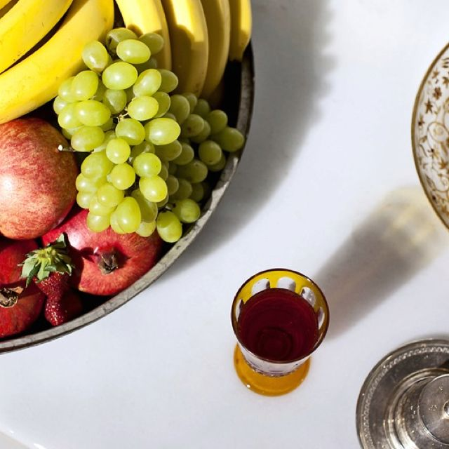 Enjoy your fruit plate and Turkish tea at the Hurrem Sultan Hamam, Istanbul