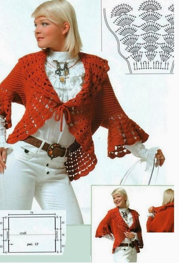 Circular Collar Bolero Redondo Patron - Crochet Patterns   Knit and ...