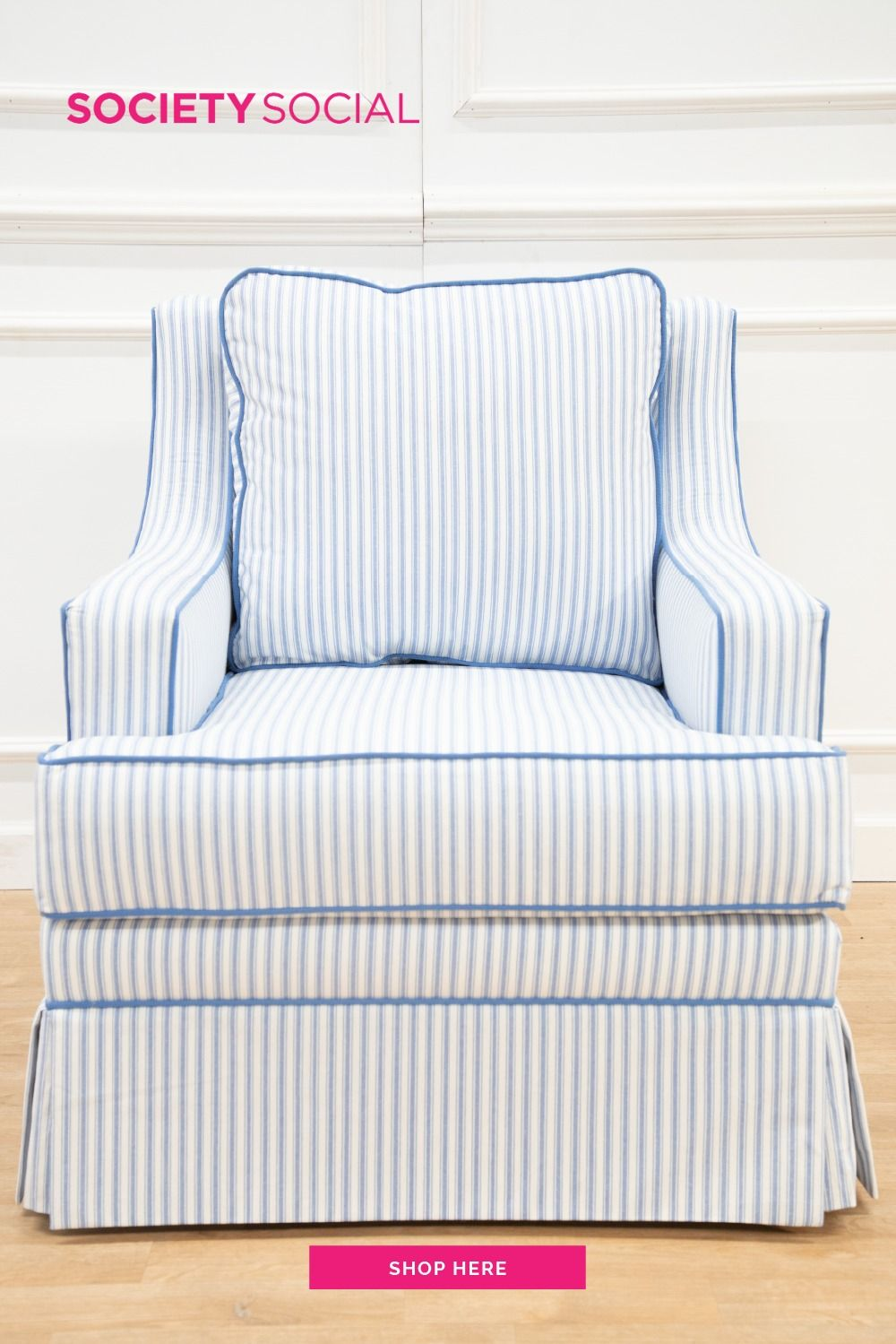 The Quinn Club Chair In 2020 Striped Chair Club Chairs Take A Seat