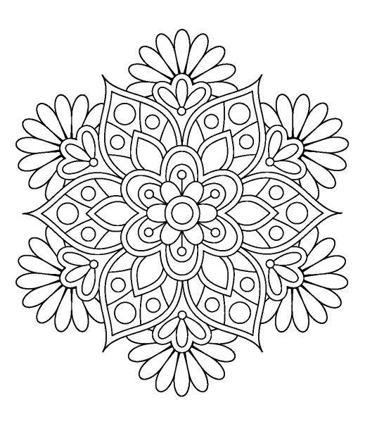 ԑ̮̑♢̮̑ɜ~Mandala para Colorear~ԑ̮̑♢̮̑ɜ | ManDAles | Pinterest