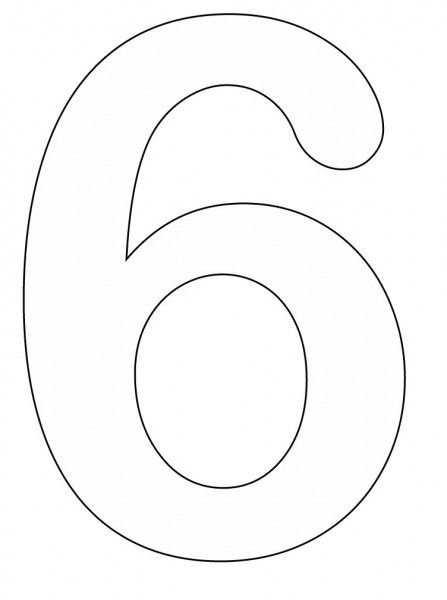 Free Printable Number 6 Coloring Pages Printable Numbers