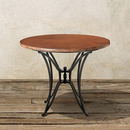 Copper 38 Round Table Top With Kenya Counter Base Arhaus