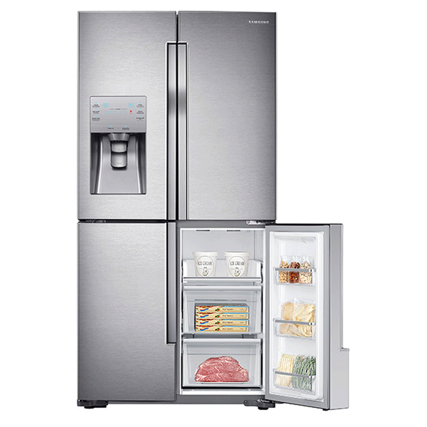 23 Cu Ft Counter Depth 4 Door Flex Refrigerator With Flexzone