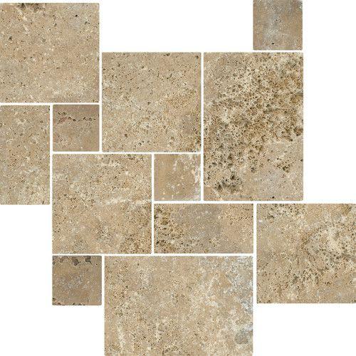 Antalya Noce Tumbled Travertine Floor Tiles Other Metro By