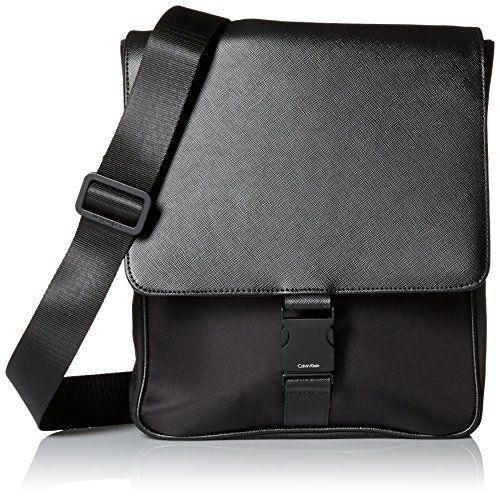 eb2f3bb1f10 Calvin Klein Men s Nylon   Saffiano City Bag   Style   Pinterest ...