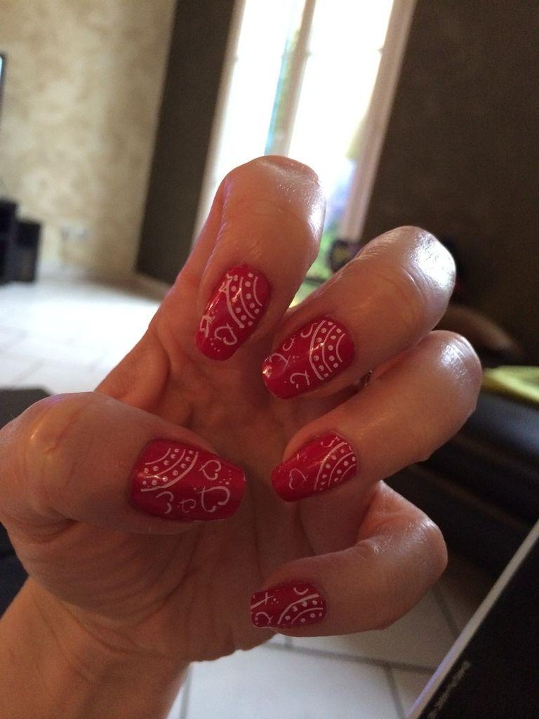 #nailart Pink-me Pink-moi - Belle des nails #nail #nails #manicure #stamping #konad #rose #pink #www.belledesnails.fr