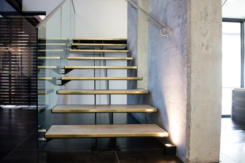 Best Custom Mild Steel Staircase Custom Treads And Glass 400 x 300