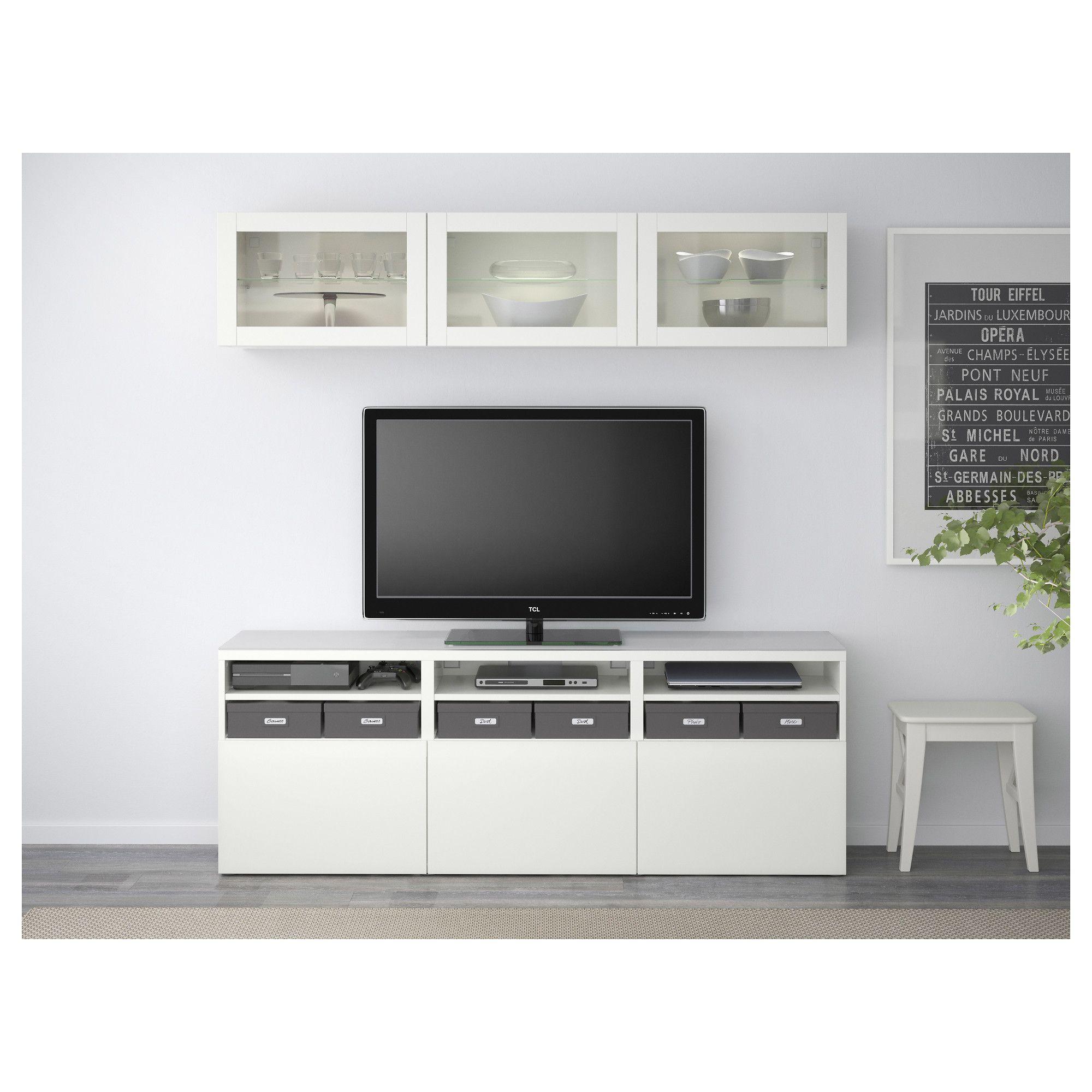 Best Tv Storage Combinationglass Doors Lappviken Sindvik White