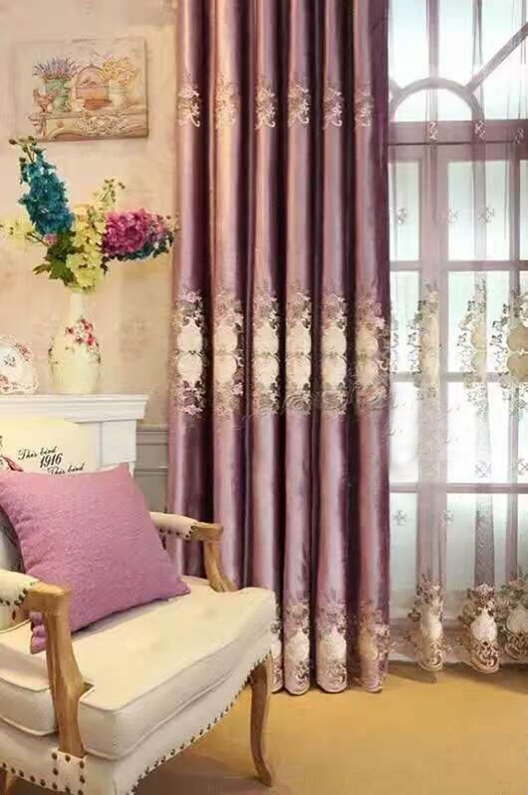 Latest Curtain Design Embroidered Curtain Royal Home Curtain