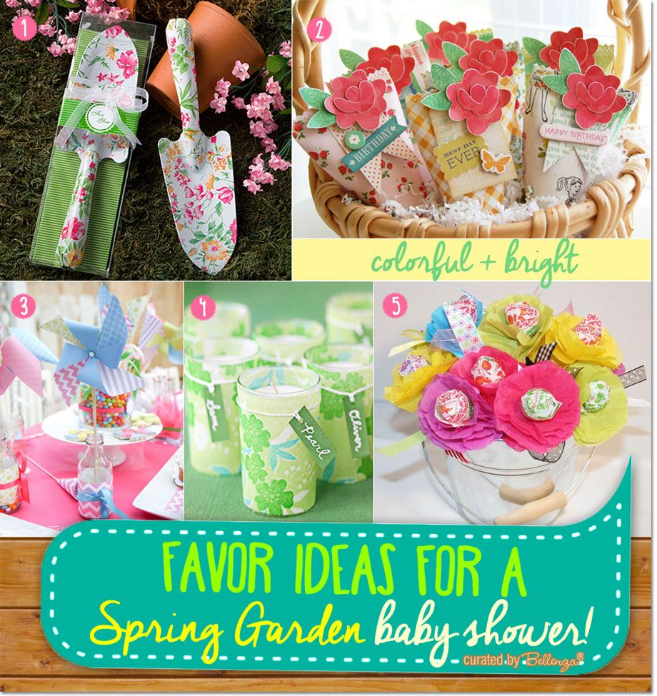 Garden baby shower decor - Favor Ideas For A Garden Themed Baby Shower