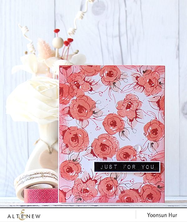 RejoicingCrafts: Just For You! Altenew Painted Flowers stamp set. #altenew #flower