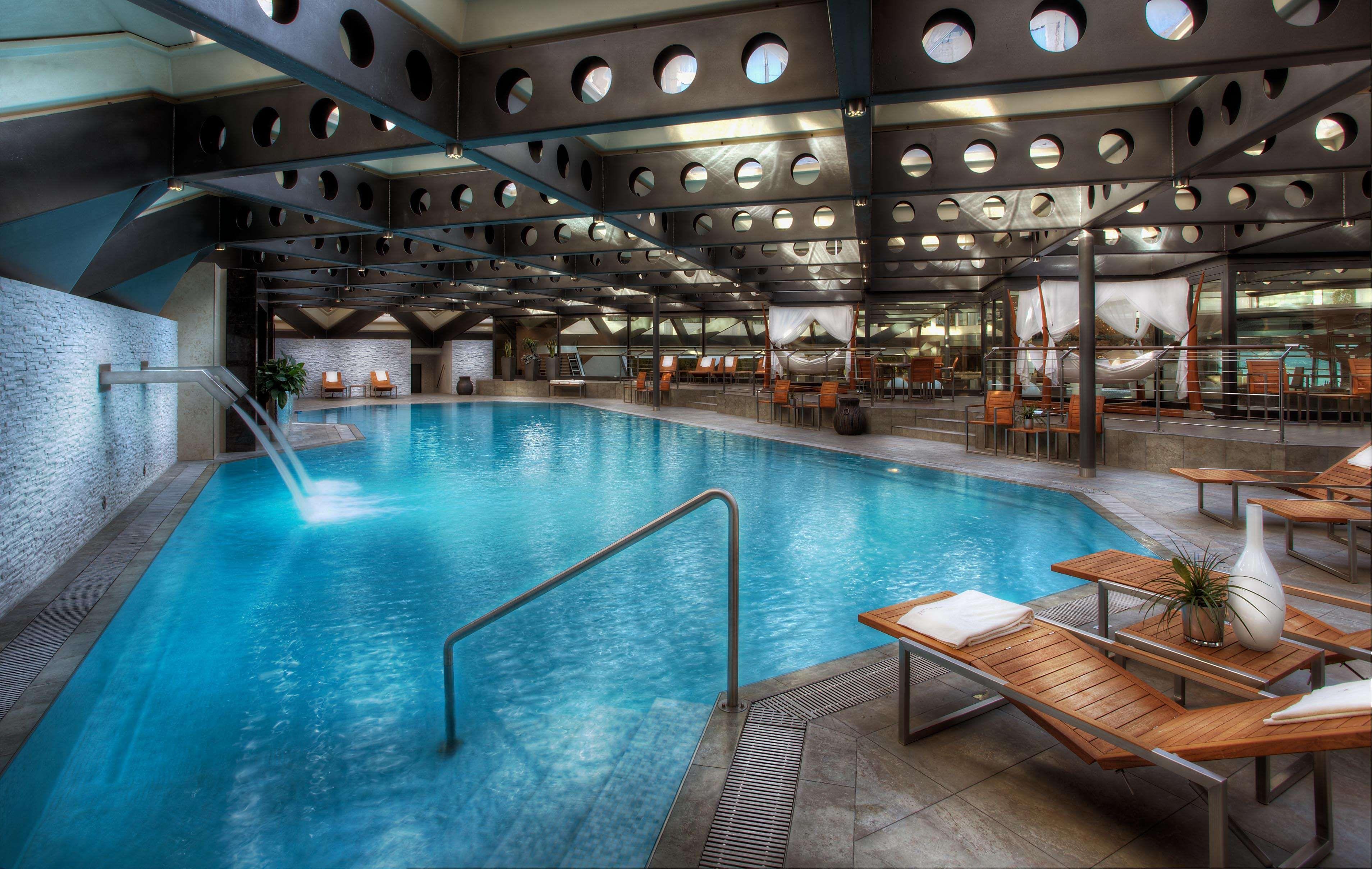 State Of The Art Gym Large Swimming Pool Hotel Geneva Kempinski
