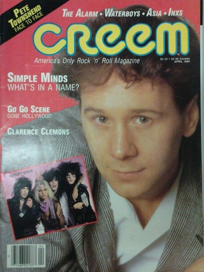 April 1986 Creem Magazine Jim Kerr Cover Simple Minds Townshend