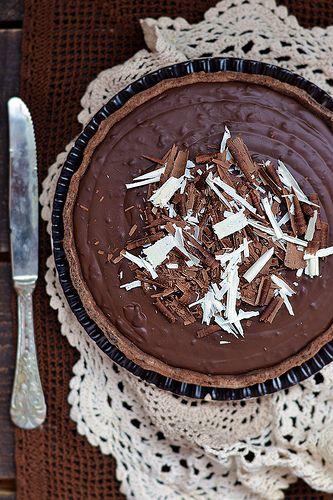 Chocolate Tart 3 Desserts Decadent Chocolate Cake Caramel Tart