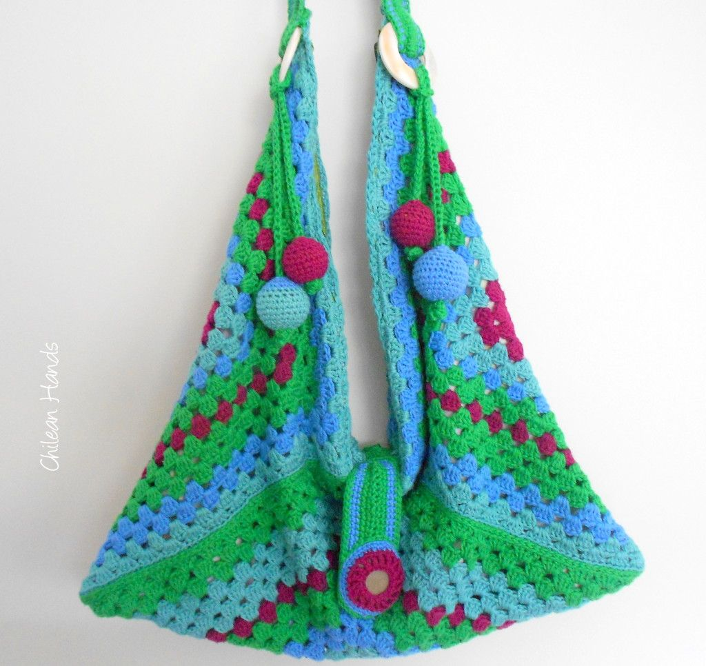 foto tutorial uccomo hacer asas para bolsos a crochetud