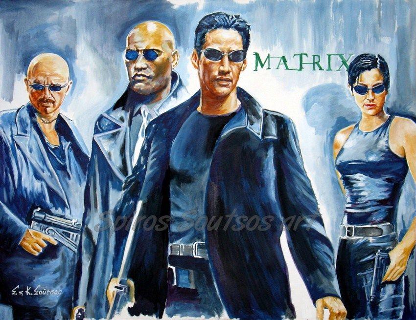 The Matrix 1999 movie poster original painting artwork by ...