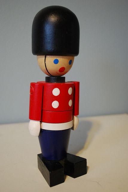 Queens Guard British peg doll soldier