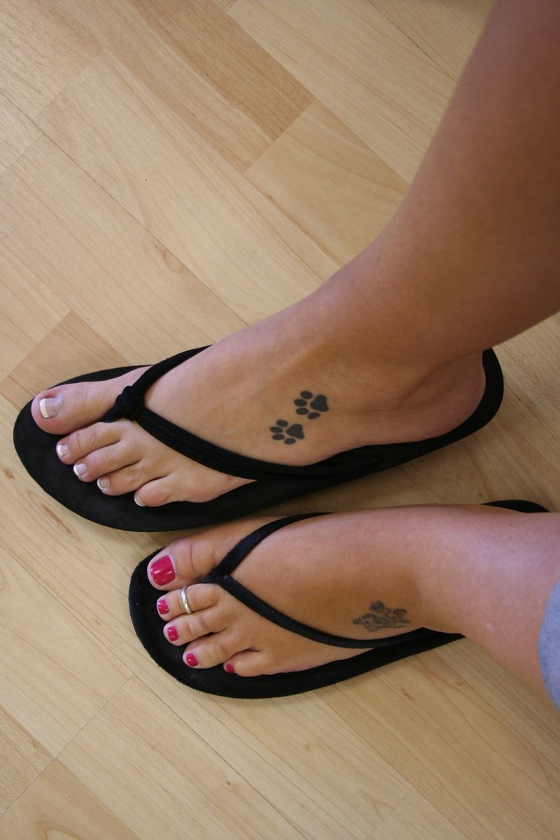 Paw Print Tattoo On Bottom Of Foot: Paw Prints On Feet, Tara I Love These, Cant Wait Til We Go