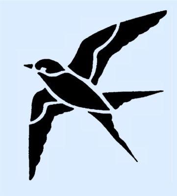 Starling Bird Stencil 6x5 Inch Stencils Bird Stencil