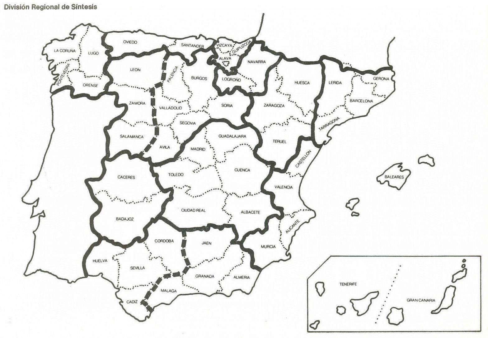 Resultado De Imagen De Mapa De España Por Provincias Para Rellenar Mapa De España Mapa Fisico De España Mapa Para Colorear