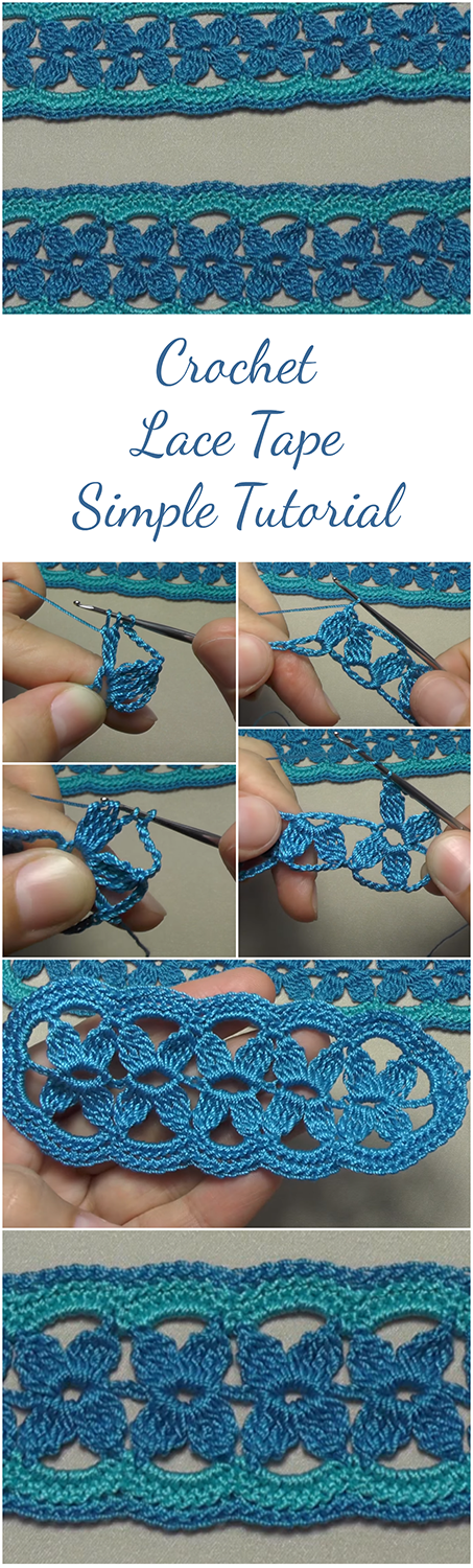 Crochet Lace Tape Simple Tutorial Free Video For Beginners