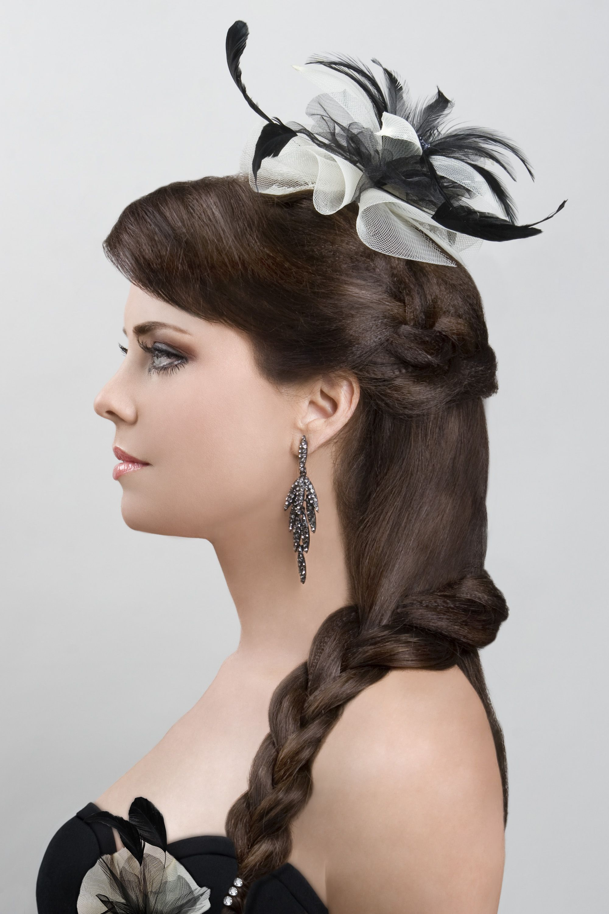 Model/Actress:  Donna Marie Rocco Hair Side View #Up-Dos Dream Catchers Salon LIKE us on www.facebook.com/DreamCatchersSalon and visit us at www.ellahairdesign.com
