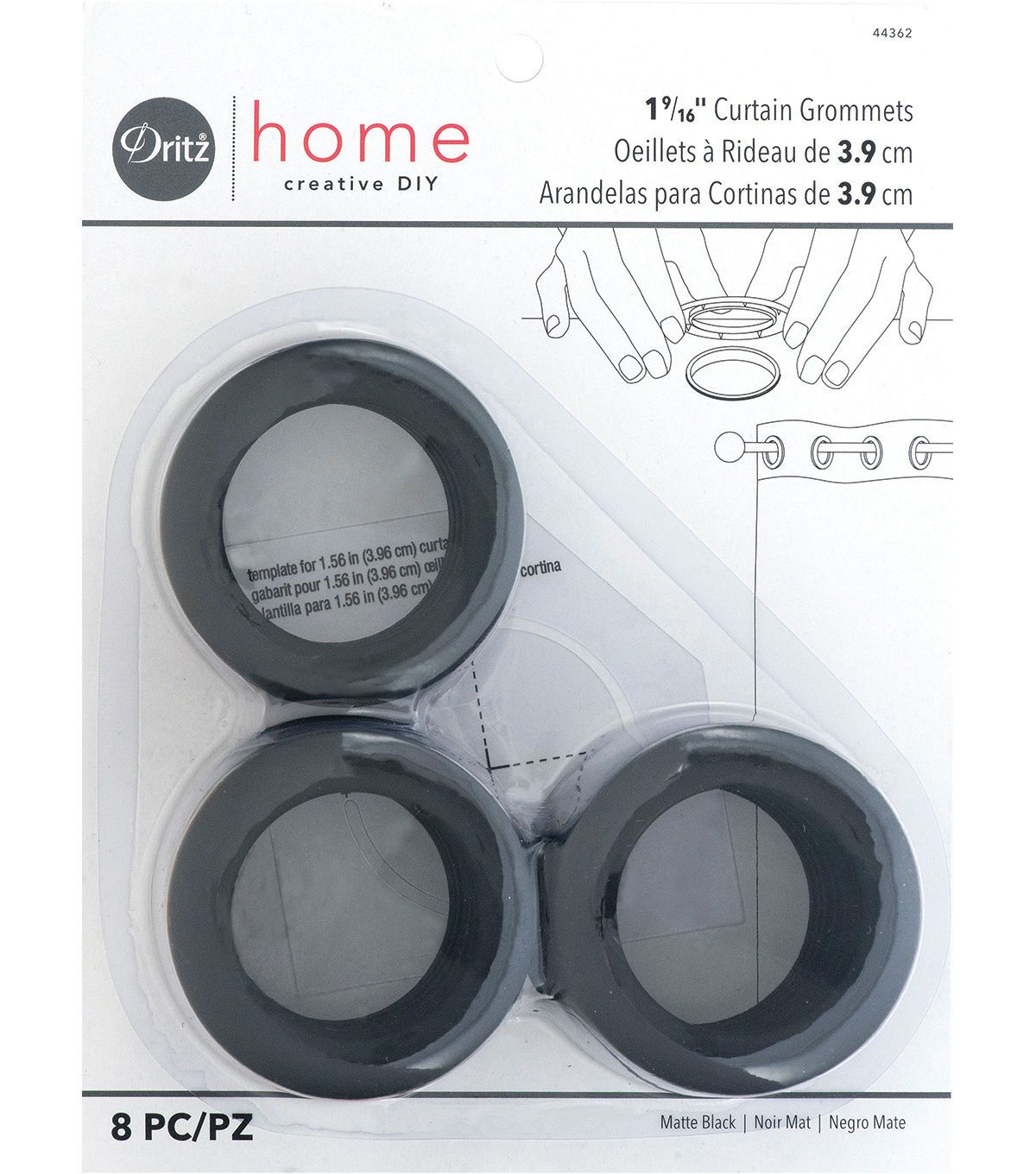 Dritz Home 1 56 Curtain Grommets 8pcs Brass Grommet Curtains
