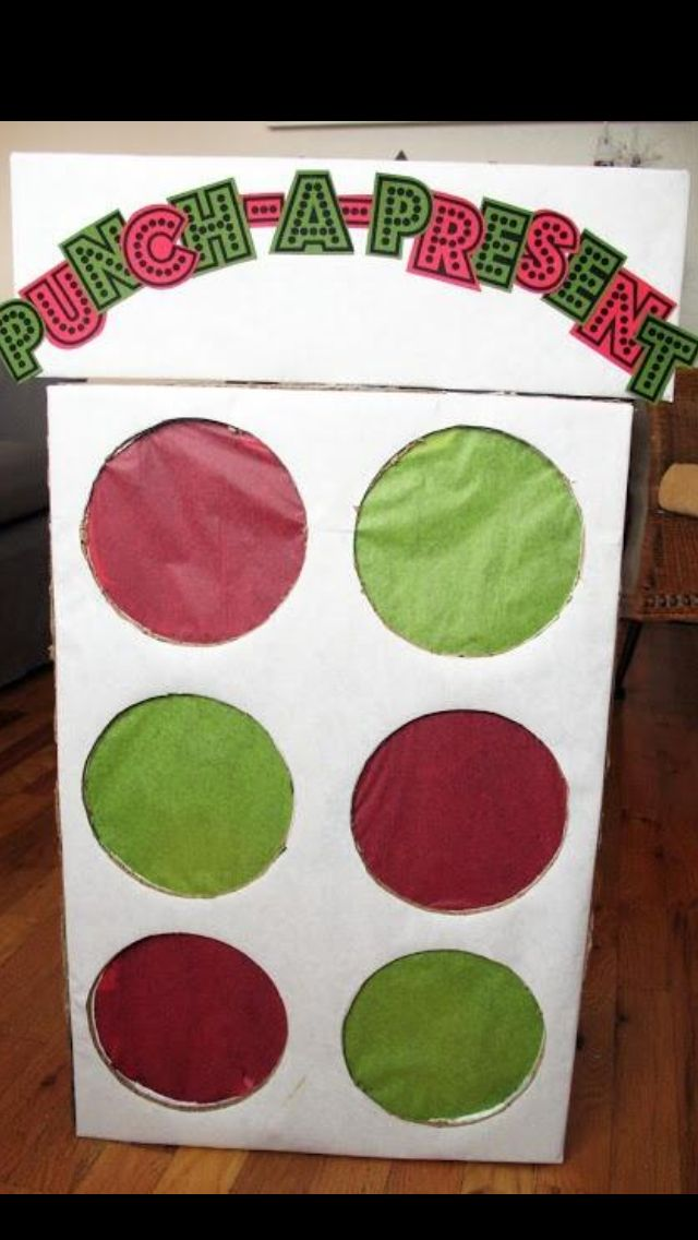 Punch-A-Present! Great idea for Christmas!