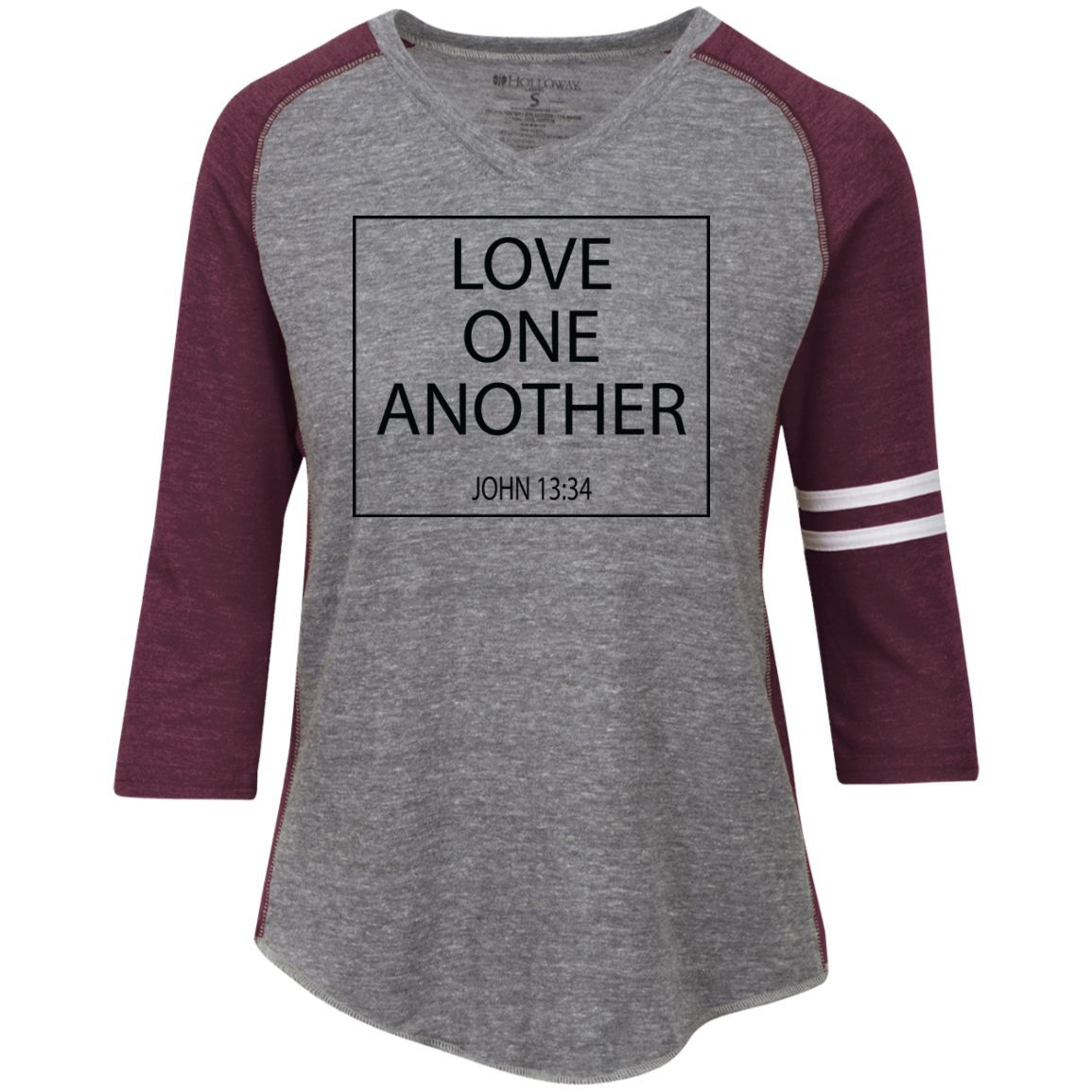 Christian V Neck T Shirt - Love One Another - 29345 Holloway Ladies' Vintage V-Neck T-Shirt