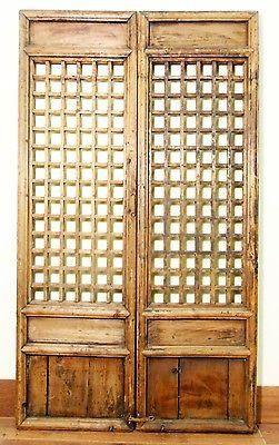 Antique Chinese Screen Panels 5126 Temple Doors Cunninghamia Wood 1800 1849 Chinese Screen Panel Wooden Screen Door Antiques