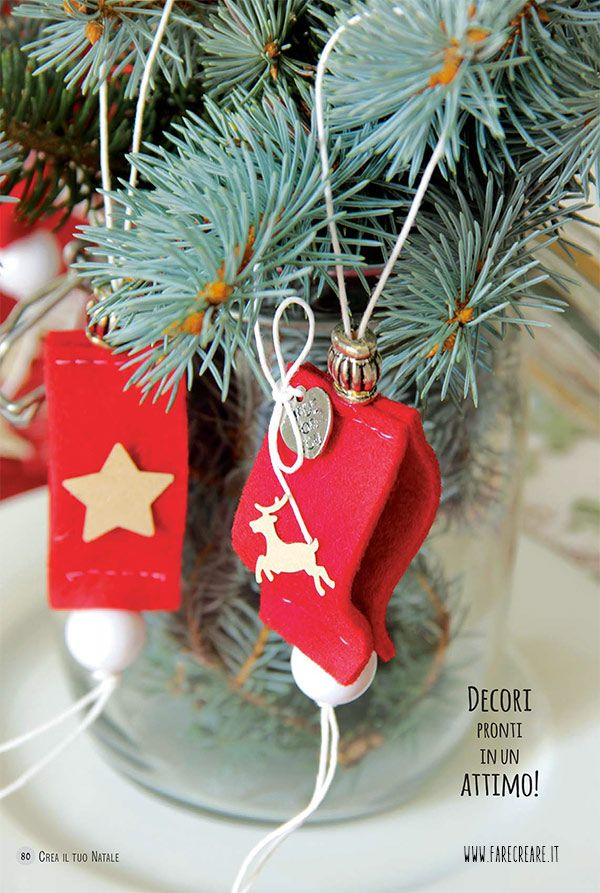 Decori di #Natale pronti in un attimo #feltro http://goo.gl/GaOi6d #diy #christmas