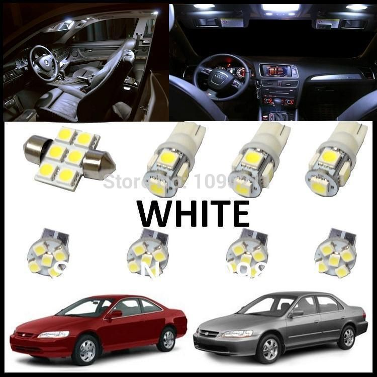 8pcs Set White Led Lights Interior Package Kit For Honda Accord 2013 2014 Car Lights Honda Accord White Led Lights