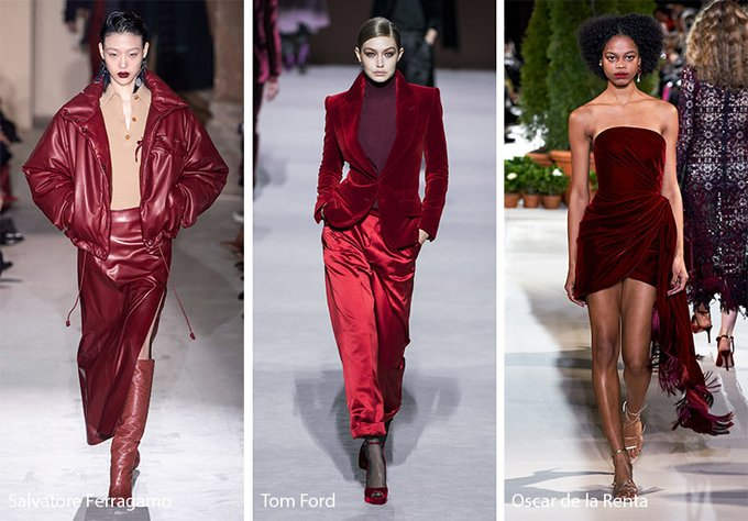 Christmas Vibes For Last Fashion Color Trend By Fw20 Red Merlot Christmas Style Christmas Color Trends Fashion Fashion Trends Winter Ladies Tops Fashion