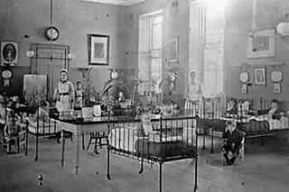 Children's ward at Royal Edinburgh Hospital for Sick Children. 1875