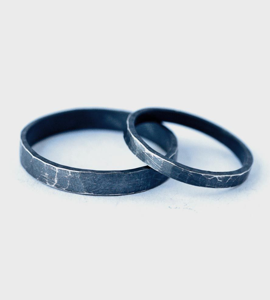 oxidized matching couple tone and rings gold wedding two jewelry his b bands hers media silver