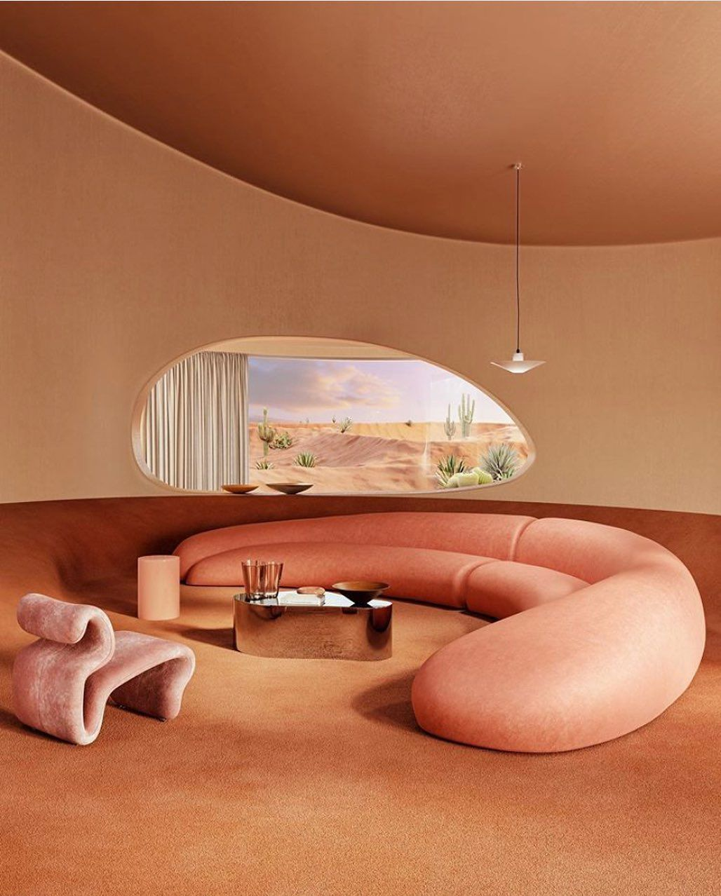 """Photo of Sitio on Instagram: """"Featuring a space designed completely from organic shapes, Nova Visualis and Charlotte Taylor have created a lounge area that draws in the…"""""""