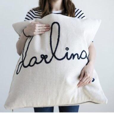 HUGE Embroidered Darling Pillow - Default Title
