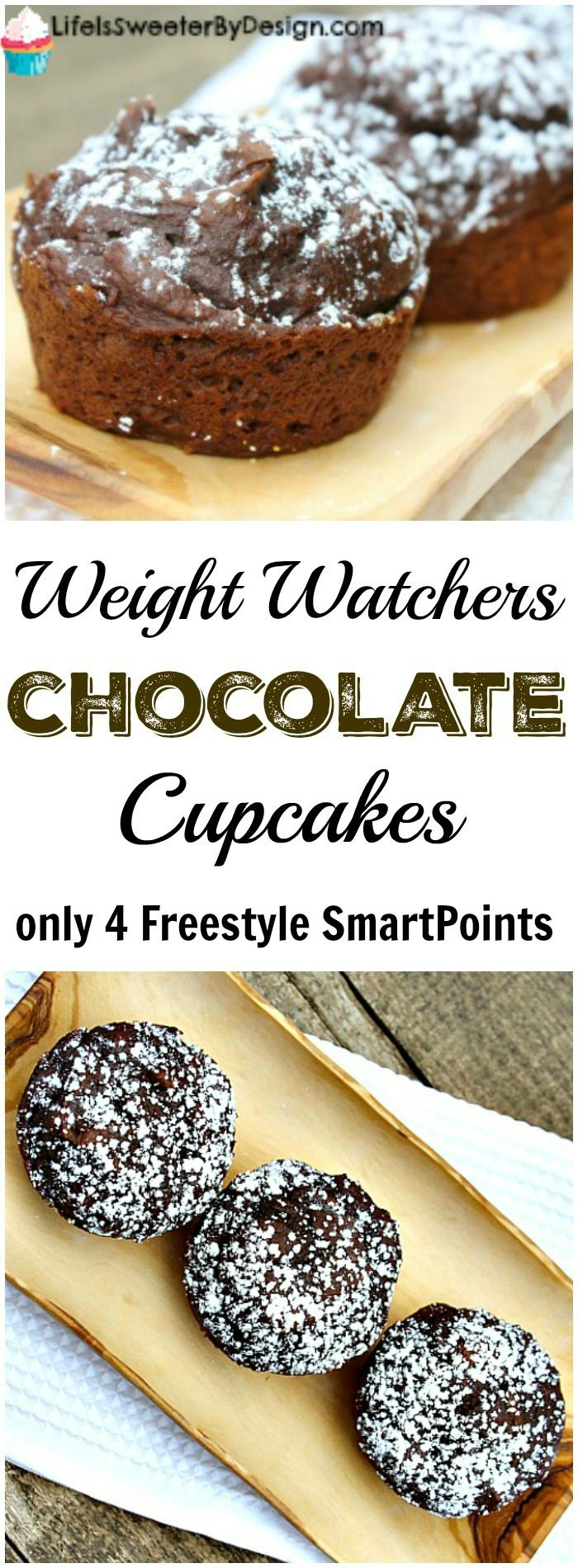 3 sp weight watchers chocolate cupcakes life is sweeter by design r gime pinterest. Black Bedroom Furniture Sets. Home Design Ideas