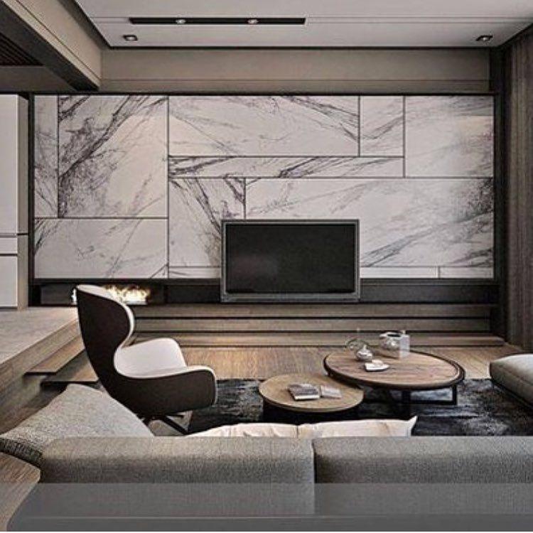 By Ia Rowaida Kharrat On Instagram Tv Wall Unit Made Of Marble Wallcladding Luxurylifestyle Luxury Living Room Living Room Modern Living Room Tv Wall