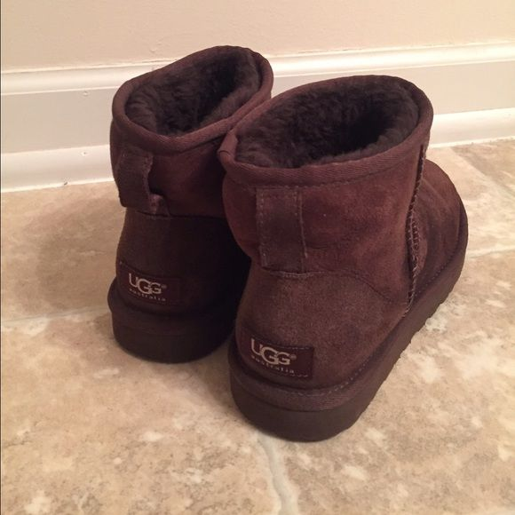 Classic Mini UGGs Great condition. Only worn a handful of times. No rips or tears or stains.  Make me an offer! UGG Shoes Ankle Boots & Booties