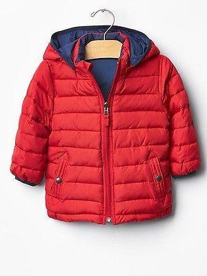 baaf9ecd55ae GAP Baby   Toddler Boy 2 Years 2T Red Blue Reversible Warmest Puffer ...