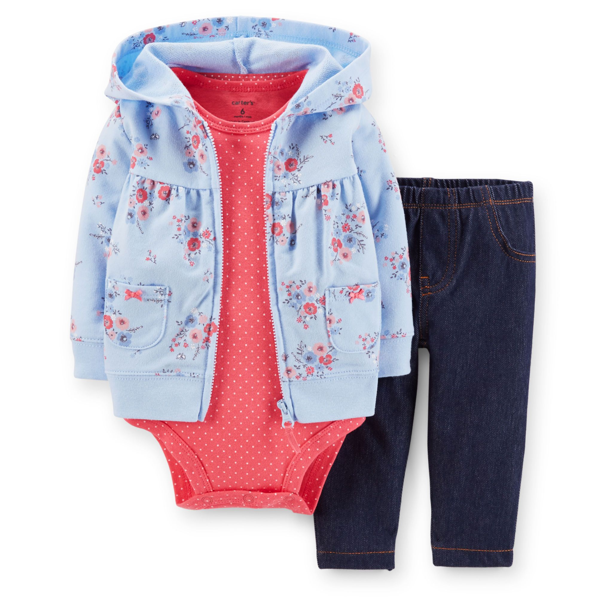 Perfect for playtime, this set has everything your baby girl needs for a complete outfit. On sale for $14 at Carter's.