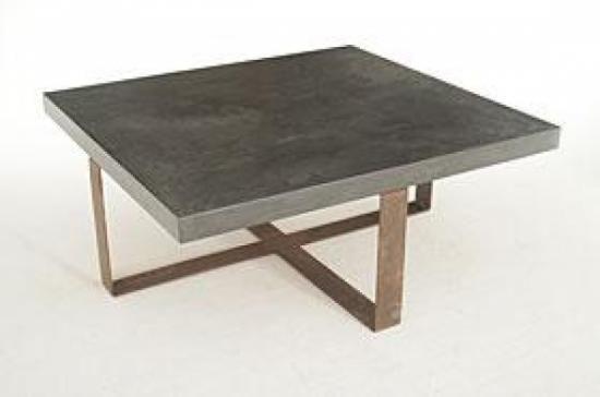 Mesas de centro microcemento y hierro - artesanum com