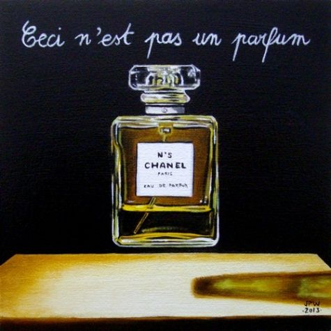 Ceci n'est pas un parfum Original oil still life 6x6 by JP Walter, painting by artist JP Walter