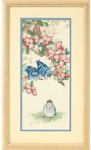 Baby Blue Jays Cross Stitch Kit - 123stitch com | Birds
